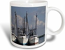 3dRose Garnelen Boote in nite-Magic Tasse,