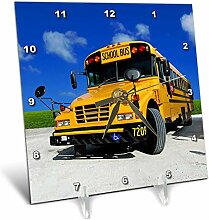 3dRose gelb Schule Bus on a Sunny