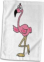 3dRose Handtuch, Flamingo, Mehrfarbig, 38 x 56 cm