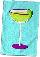 3dRose Handtuch Margarita aus Glas mit