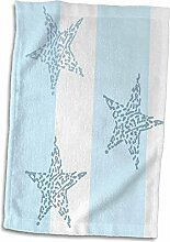 3dRose Handtuch mit Sternen und Streifen, 38 x 56