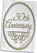 3dRose Handtuch, zum 51. Jahrestag, Geschenk,