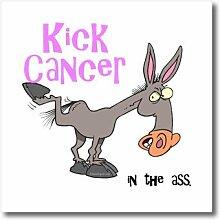 3dRose HT 115585_ 3Kick Krebs in der Ass