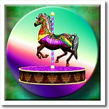 3dRose HT 128852_ 1A Musik Box Painted Pony