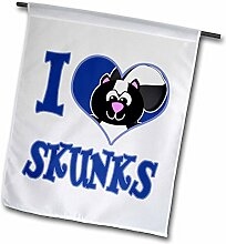 3dRose I Heart Love Skunks Cartoon – Garten