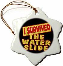 3dRose I Survived The Water Slide Survial Pride,