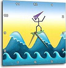 3dRose Joe Surfer Zehn High On The Big Surfen