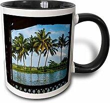 3dRose Kerala-Becher mit Kokosnussbäumen und