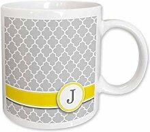 3drose Keramikbecher mit Initiale/Buchstabe J,