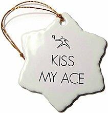 3dRose Kiss My Ass, Schneeflocken-Design,