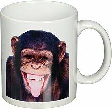 3dRose Lachender Affen-Becher, 325 ml