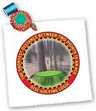 3dRose LLC Disc Golf Logic 1 A Frisbee Disc Golf