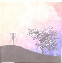 3dRose LLC Korb auf einem Hügel Silhouette eines