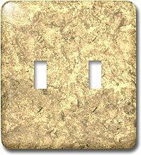 3drose LLC. l.s.p. 253562_ 2B06X 9zr2yb Gold Stein background-double Toggle Switch, Beige