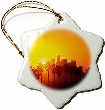 3dRose Los Angeles California Skyline, USA-Design,