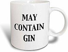 3dRose May Contain Gin-Tasse, 325 ml