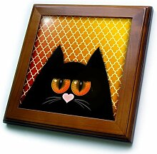 3dRose Meh 223298_1 Fliese mit orangenen Augen