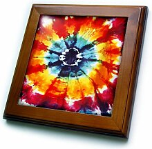 3dRose Mehrfarbige Fliese mit Rahmen, 15,2 x 15,2