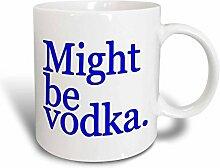 3dRose Might Be Vodka Becher aus Keramik, 325 ml,