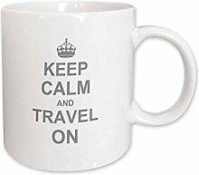 3dRose mug_157782_2 Keep Calm And Travel On