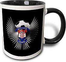 3dRose mug_159465_4 Becher, keramik, schwarz