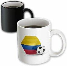 3dRose mug_181896_3 Colombia Soccer Ball Becher,