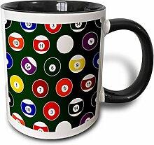 3dRose mug_223349_4 Green Pool Ball Billiards