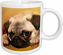 3dRose mug_3644_2 Mops-Keramikbecher, 425 ml