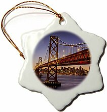 3dRose Oakland, Bay Bridge in San