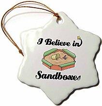 3dRose ORN 105510_ 1I Believe In Sandkasten