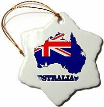 3dRose ORN 79413_ 1der Flagge Australien in