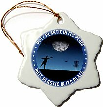 3dRose Perkins Designs Putt Plastic in its Place,