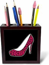 3dRose PH 57138_ 1I Love Schuhe Pink Cheetah