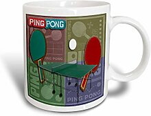 3dRose Ping-Pong-Farben 8,45-Becher aus Keramik,