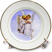 3dRose Porzellanteller, Motiv Engel Kuss, 20,3 cm,