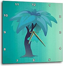 3dRose Print of Beautiful Aqua Palm auf