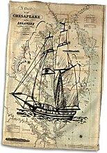 3dRose Print of Vintage Chesapeake Bay mit