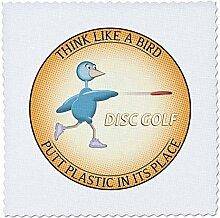 3dRose qs_19465_1 Think Like a Bird 2 Shows a Blue
