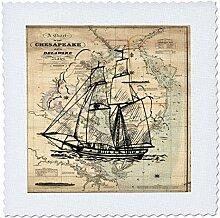 3dRose QS 204904_ 1Print of Vintage Chesapeake