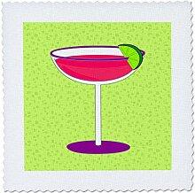3dRose QS 57116_ 4Hell Rosa Margarita in Glas