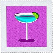 3dRose QS 57117_ 1Bright Blau Margarita in