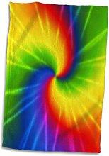 3dRose Rainbow Tie Dye Bunt Kunstdruck Handtuch,