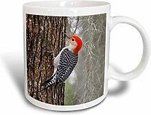 3dRose Red Becher, Keramik, Ceramic, 11 oz