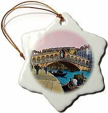 3dRose Rialto Bridge, Venice, magische Laterne,