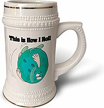 3dRose Roll Bowling Ball Bowlers Design-Stein