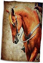 3dRose Sauerampfer Western Pferd Grunge Handtuch,