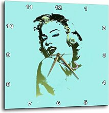 3dRose Sexy Bild von Marilyn Monroe. Türkis Print