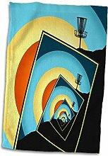 3dRose Spinning Körbe, Bunte Hillside Frisbee