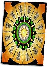 3dRose Sunny Frisbee Disc Golf Körbe mit Putter