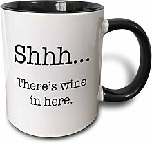 3dRose Tasse 157414_ 4Shhh There 's Wine